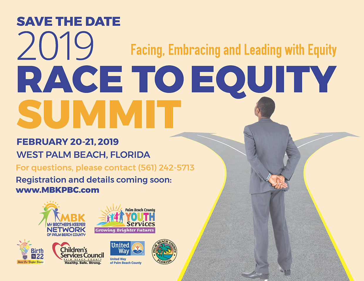 Save the Date, 2019 Race to Equity Summit, February 20-21, 2019